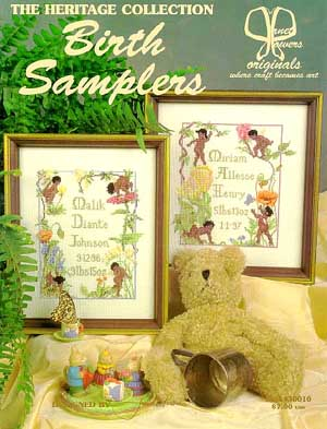 Janet Powers Originals, Birth Samplers (Heritage Collection), Needles and Things
