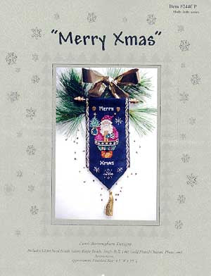 Lorri Birmingham Designs, Merry Christmas (Santa & Bird), Needles and Things