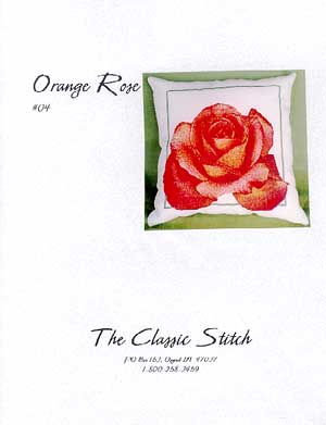 Classic Stitch, The, Orange Rose Pillow, Needles and Things