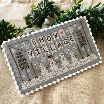 Country Cottage Needleworks, Snow Village Banner - Snow Village (1/11), Needles and Things