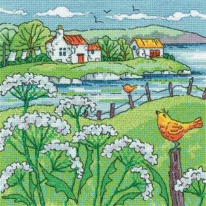 Heritage Crafts, Cow Parsley Shore - By The Sea - Karen Carter, Needles and Things