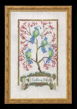 Nora Corbett, Four Calling Birds - 12 Days of Christmas, Needles and Things