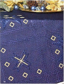 "Tablecloths Dark Blue 35"" x 35"""