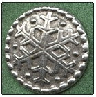 "Pewter Buttons & Hooks, Large snowflake embossed; 7/8"", Needles and Things"