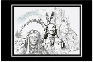 Native American - Pen and Ink Series