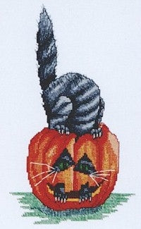 Springberry Kreek Designs, Cat 0'Lantern, Needles and Things