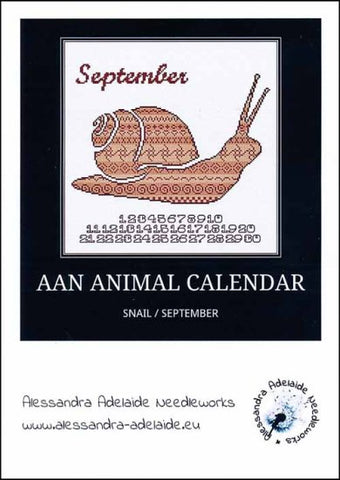 Alessandra Patterns, AAN Animal Calendar: September Snail, Needles and Things