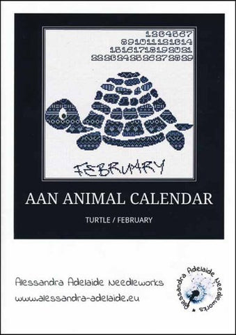 Alessandra Patterns, AAN Animal Calendar: February Turtle, Needles and Things