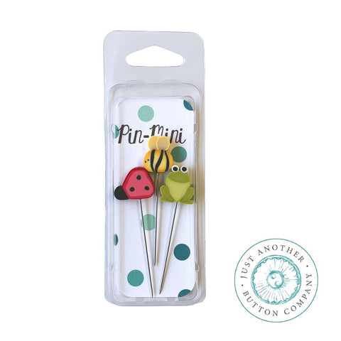 Just Another Button Company, Pin-Mini: Backyard, Needles and Things