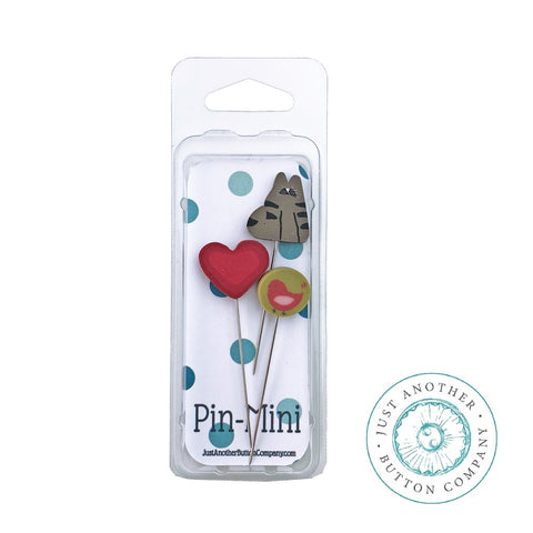Just Another Button Company, Pin-Mini: Cat Lover, Needles and Things