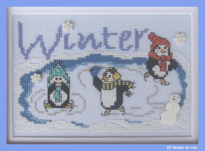 Designs By Lisa, Winter on Penguin Pond, Needles and Things