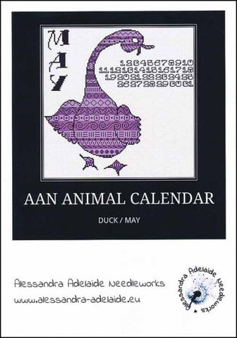 Alessandra Patterns, AAN Animal Calendar: May Duck, Needles and Things