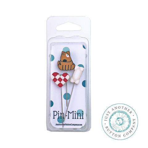 Just Another Button Company, Pin-Mini: Dog Lover, Needles and Things