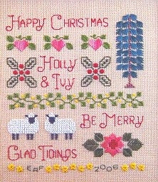 Elizabeth's Needlework Designs, Holly & Ivy Sampler, Needles and Things