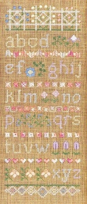 Elizabeth's Needlework Designs, Pastel Alphabet Sampler, Needles and Things
