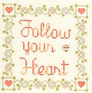 Elizabeth's Needlework Designs, Follow Your Heart, Needles and Things