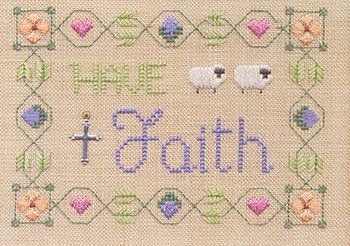 Elizabeth's Needlework Designs, Have Faith, Needles and Things