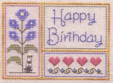 Elizabeth's Needlework Designs, Happy Brithday, Needles and Things