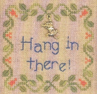 Elizabeth's Needlework Designs, Hang In There, Needles and Things