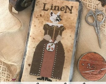 Primitive Hare, Miss Linette Lynn Linen, Needles and Things