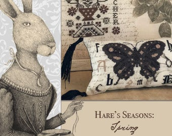 Primitive Hare, Hare's Seasons: SPRING   BOOK, Needles and Things