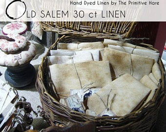 Primitive Hare, Linen: Old Salem linen BIG CUT Primitive Hare, Needles and Things