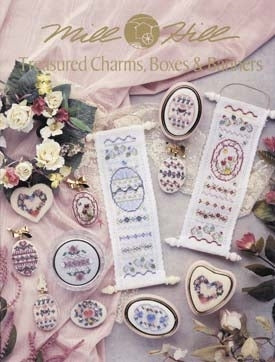 Mill Hill Publications, Treasured Charms, Boxes & ...	Treasured Charms, Boxes & Banners; Mill Hill Publications; Fabric: 3281222, 3281101, 3281718, 328153, Needles and Things