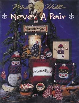 Mill Hill Publications, Never A Pair	Never A Pair; Mill Hill Publications; Fabric: 328153, 360953, 388299, Needles and Things