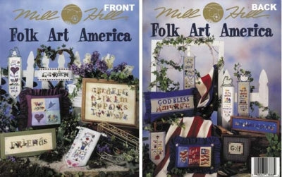 Mill Hill Publications, Folk Art America	Folk Art America; Mill Hill Publications; Fabric: 328153, 3281557, Needles and Things