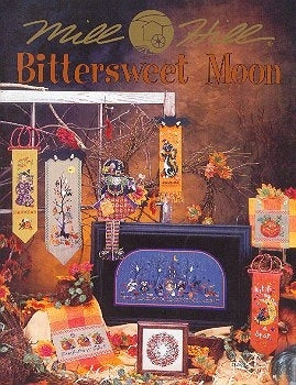 Mill Hill Publications, Bittersweet Moon	Bittersweet Moon; Mill Hill Publications; Fabric: 3281224, 3281346, 3281557, 3882334, Needles and Things
