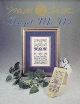 Mill Hill Publications, Forget Me Not Sampler	Forget Me Not Sampler; Mill Hill Publications; Mill Hill Banding: MH20780115, Needles and Things