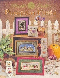 Mill Hill Publications, Pumpkin Flight	Pumpkin Flight; Mill Hill Publications; Fabric: 328153, 3281557, 3281720, 3991334, Needles and Things