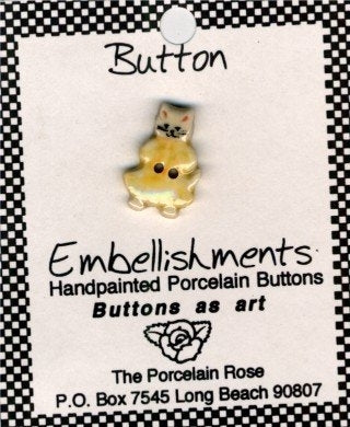 Porcelain Rose Buttons, Mother Cat, Needles and Things