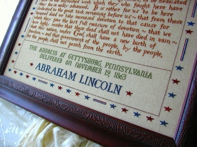 Primrose Needleworks, 272 Words - Gettysburg Address, Needles and Things