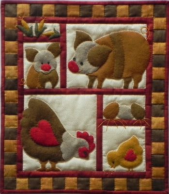 Ham and Eggs - Wall Quilt