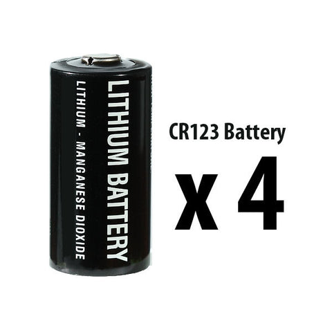 CR123A Battery - 4 Pack