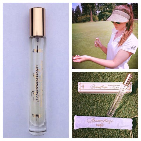 Renee Skidmore using Aromaflage during a match