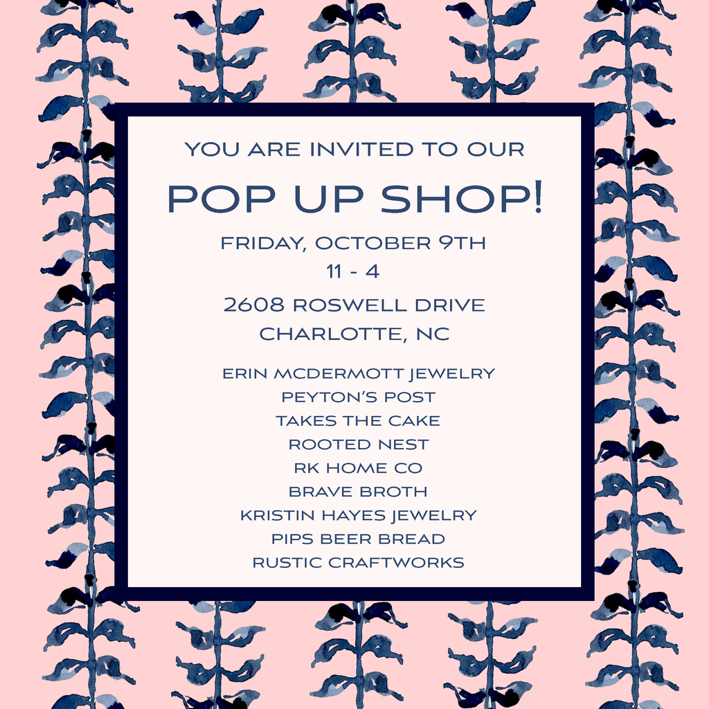 October Pop-Up Shop Announcement