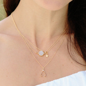 Barely There White Quartz Necklace