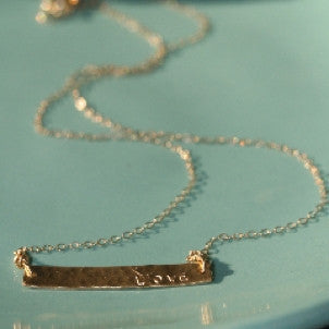 Rectangle Bar Necklace or Bracelet