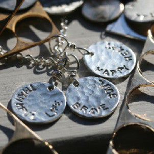 """Words to Live By"" Disc Necklace"