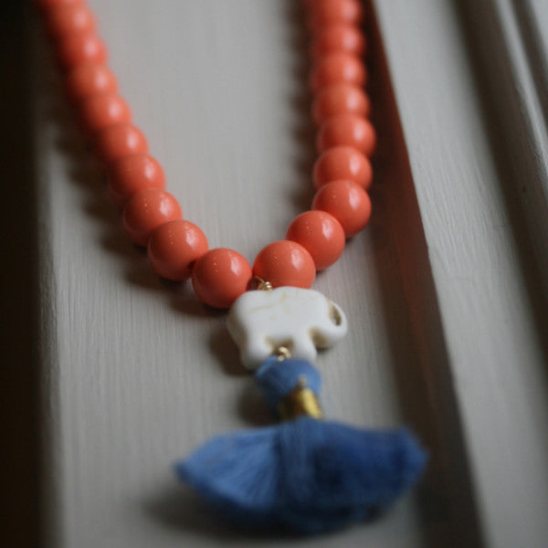The Starburst Tassel Necklace