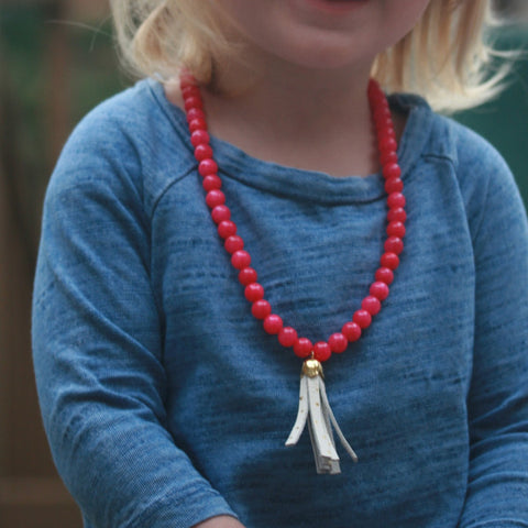 The Sweet Tart Tassel Necklace