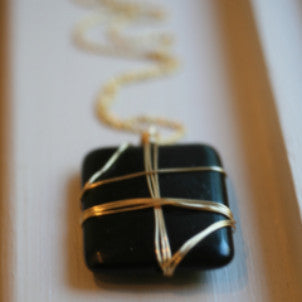 Wrapped Black Onyx Necklace