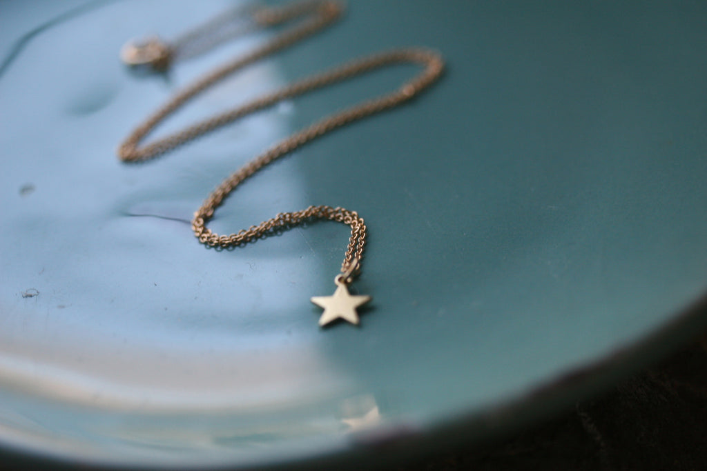 by item shop necklace beau large disc tiny pendant star pheebs