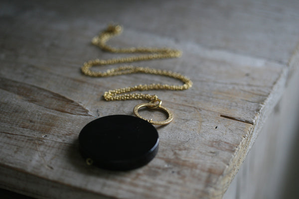 Black Onyx Circle Necklace