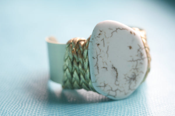 White Turquoise Cuff