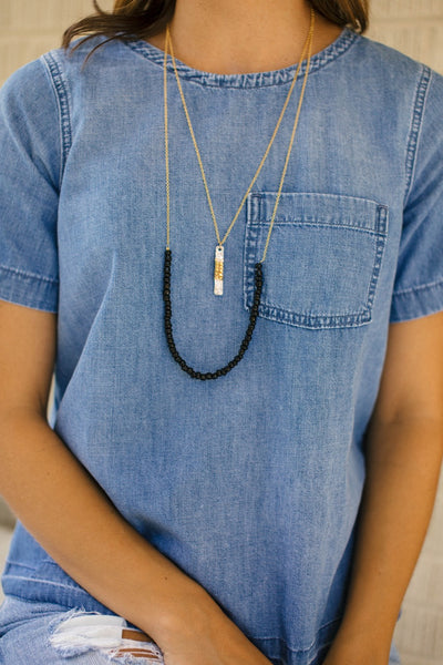 Mixed Metal Talum Necklace