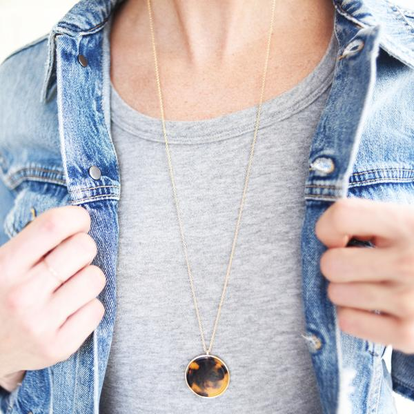 Caramel and Mocha Tortoise Necklace