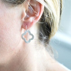 Silver Clover Earrings